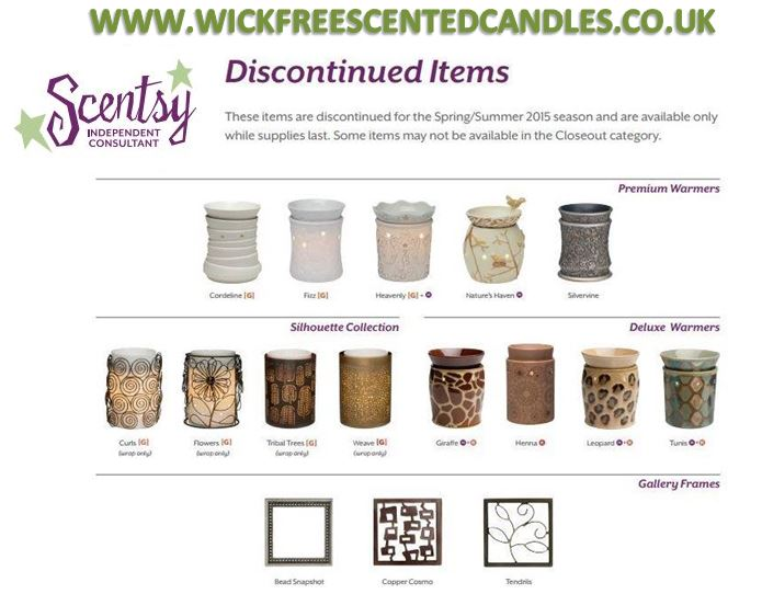 discountinued products scentsy
