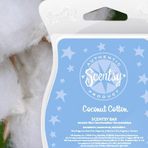 coconut cotton New uk scentsy fragrance wick free candle wax bars