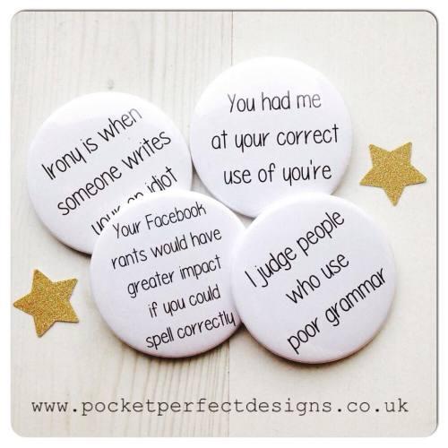 Grammar pack of 4 magnets