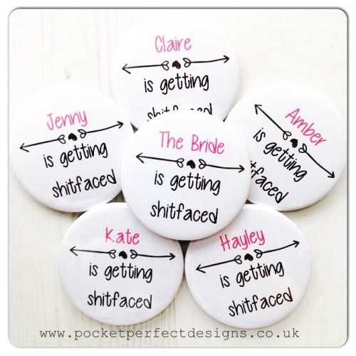 Sh*tfaced hen do badge
