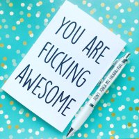 You Are Awesome Notebook & Free Pen