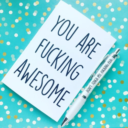 You Are Awesome Notebook & Don't Touch Pen