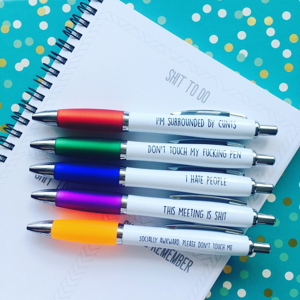 Multicolour Pack Of 5 Pens