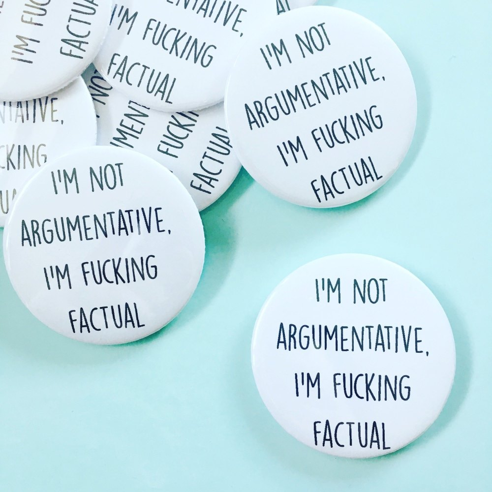 Argumentative Badge
