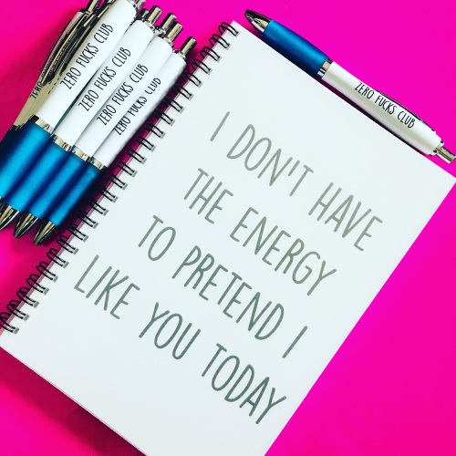 A5 Energy Notebook & Free Pen