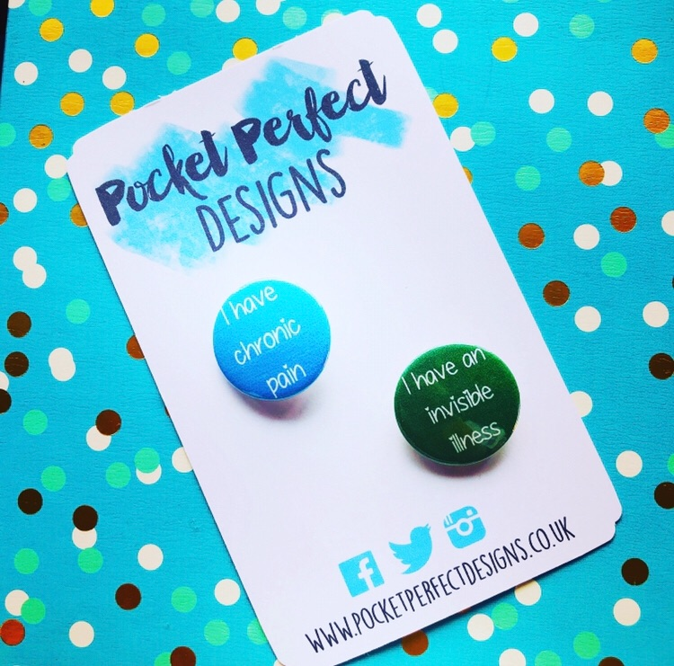 Chronic Pain/Invisible Illness Pack Of 2 Badges
