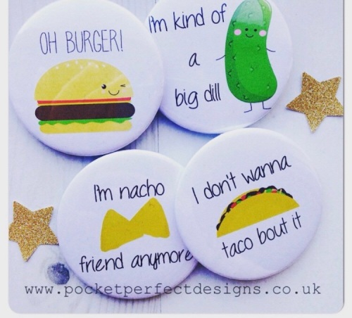Food Pun Pack Of 4 Magnets