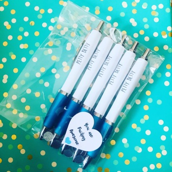 Blue Petty Betty Pack Of 5 Pens