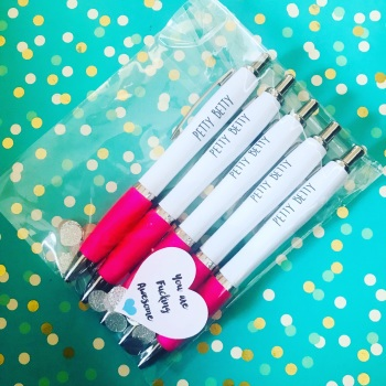 Pink Petty Betty Pack Of 5 Pens