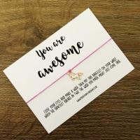 You Are Awesome Unicorn Wish Bracelet (No Swearing)