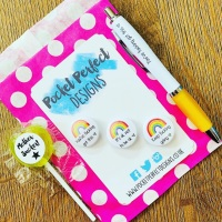 Rainbow Badge Set & You've Got This Pen