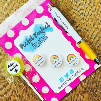 Rainbow Badge Set & You've Got This Pen