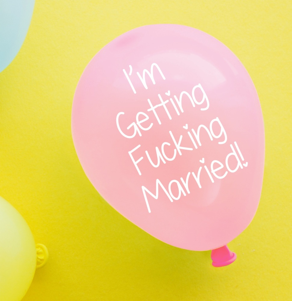 Getting Married Balloon Pack Of 4