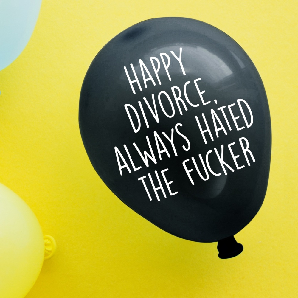 Happy Divorce Balloon Pack Of 4