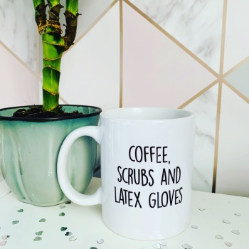 Coffee Scrubs & Latex Gloves Mug