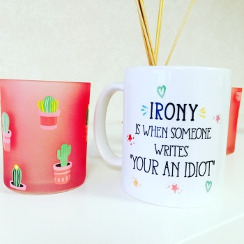 *SECONDS* Irony Mug Hearts & Stars Design