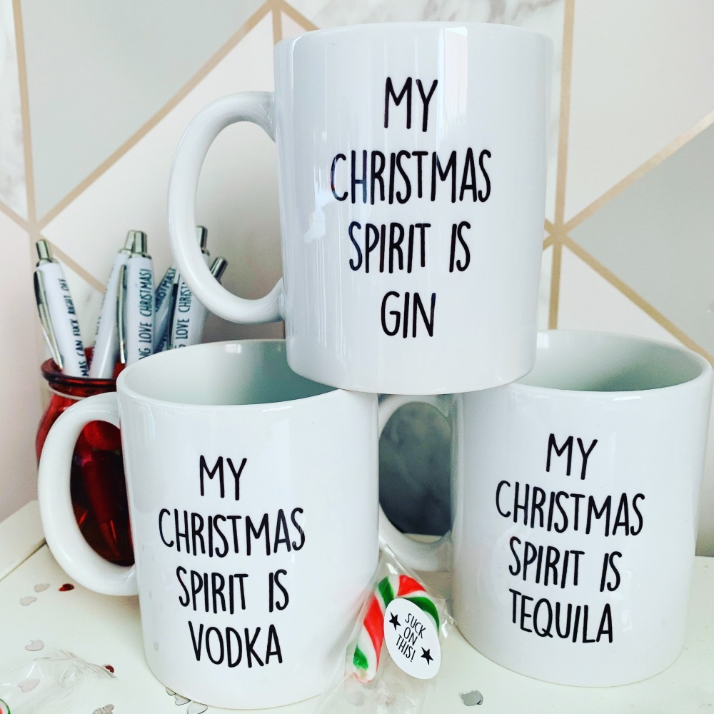 My Xmas Spirit Is Gin Mug