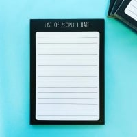 List Of People I Hate A6 Notepad