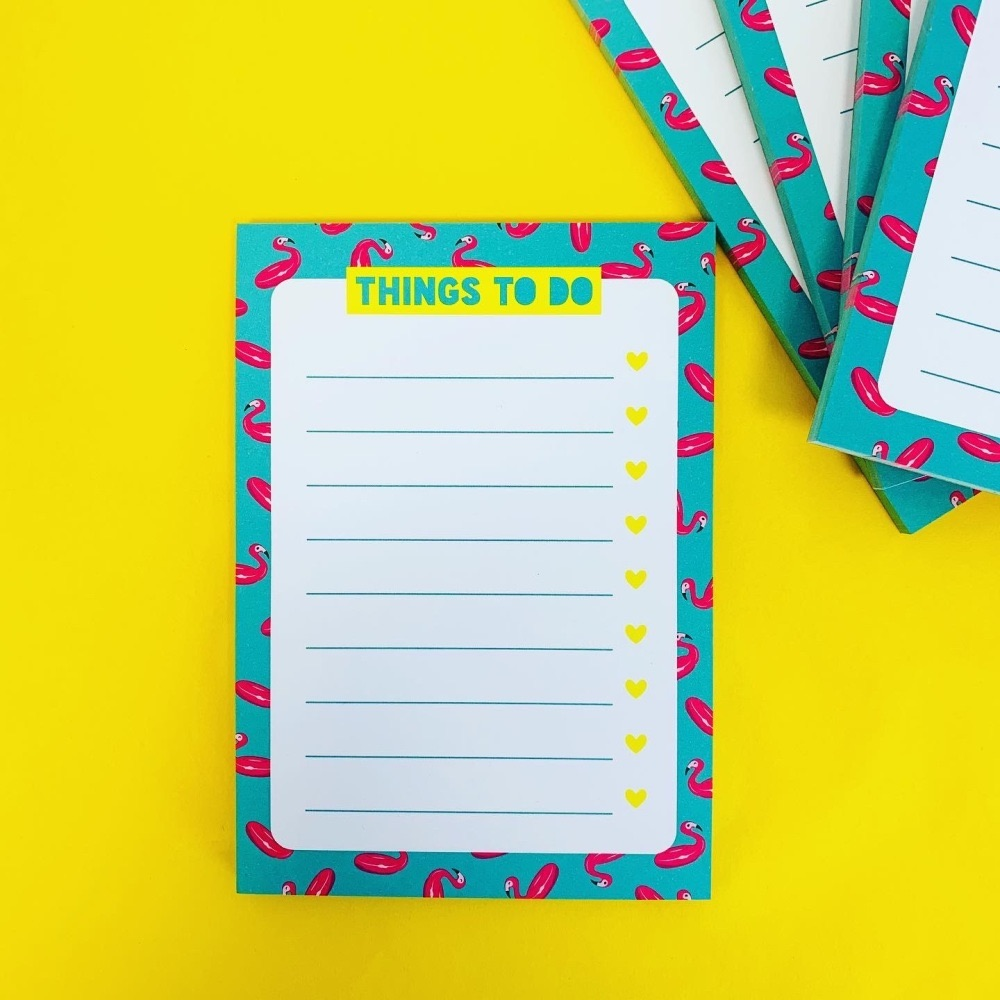 Flamingo Things To Do A6 Notepad