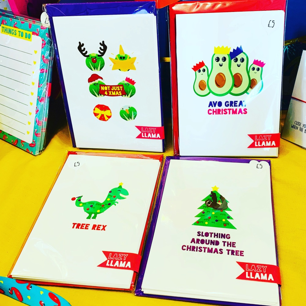 Xmas Puns Pack Of 4 Cards