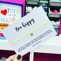 Bee Happy Wish Bracelet