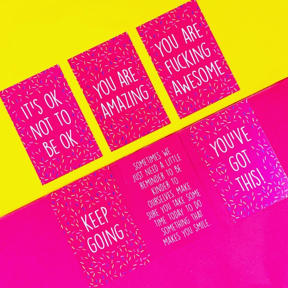 *SECONDS* Mini Affirmation Card Pack Of 5