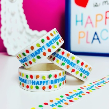 Birthday Balloons Washi Tape