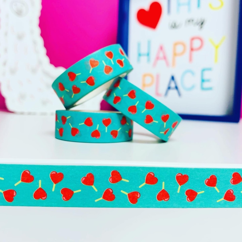Heart Lollipop Washi Tape