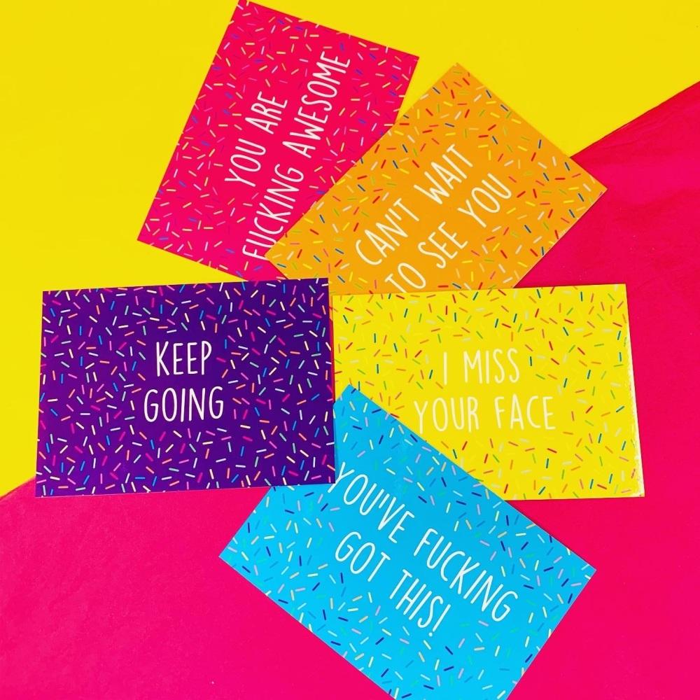 Positivity Postcard/Prints Pack Of 5