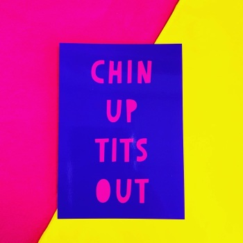 Chin Up Postcard/Print
