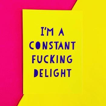 Constant Delight Postcard/Print
