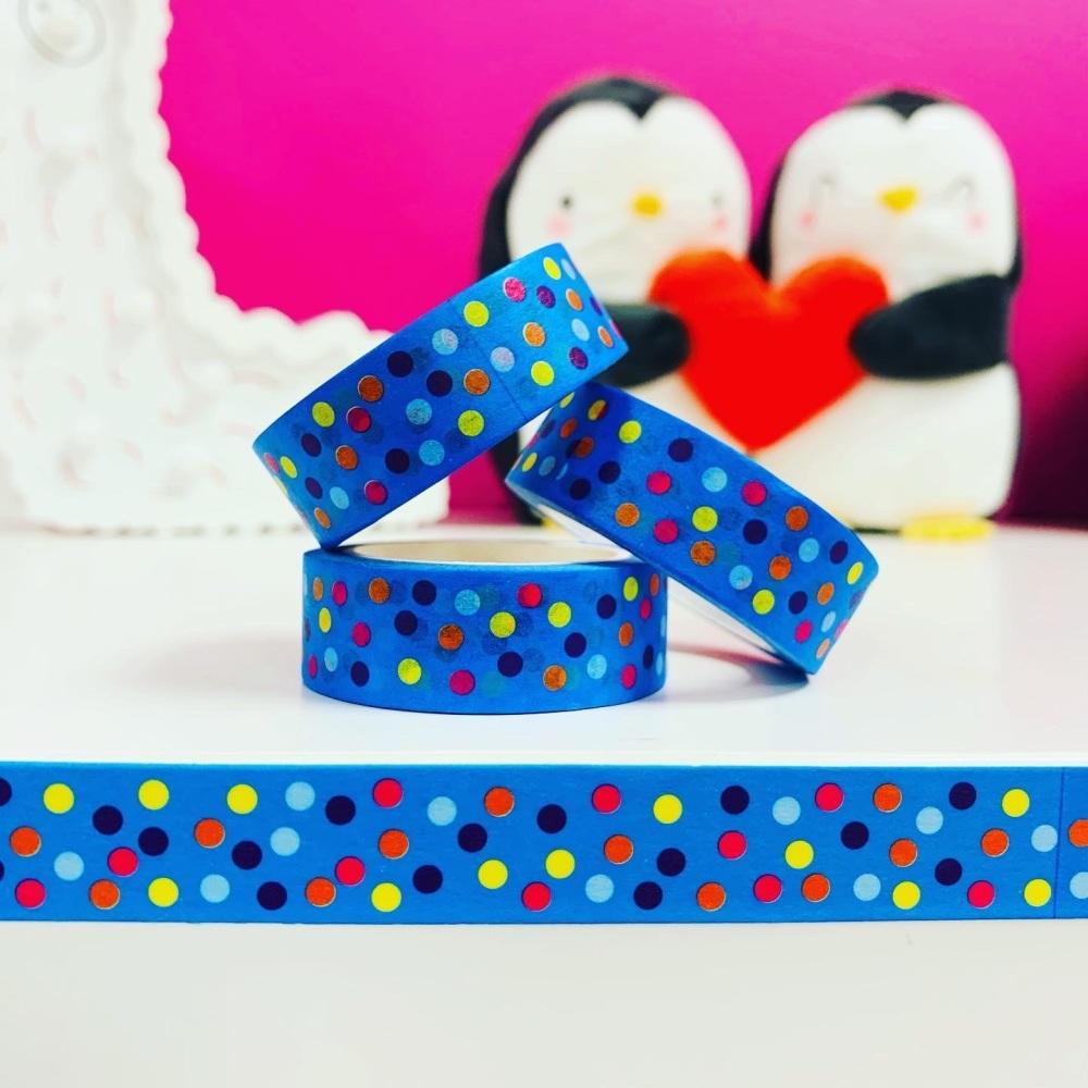 Blue Dots  Washi Tape
