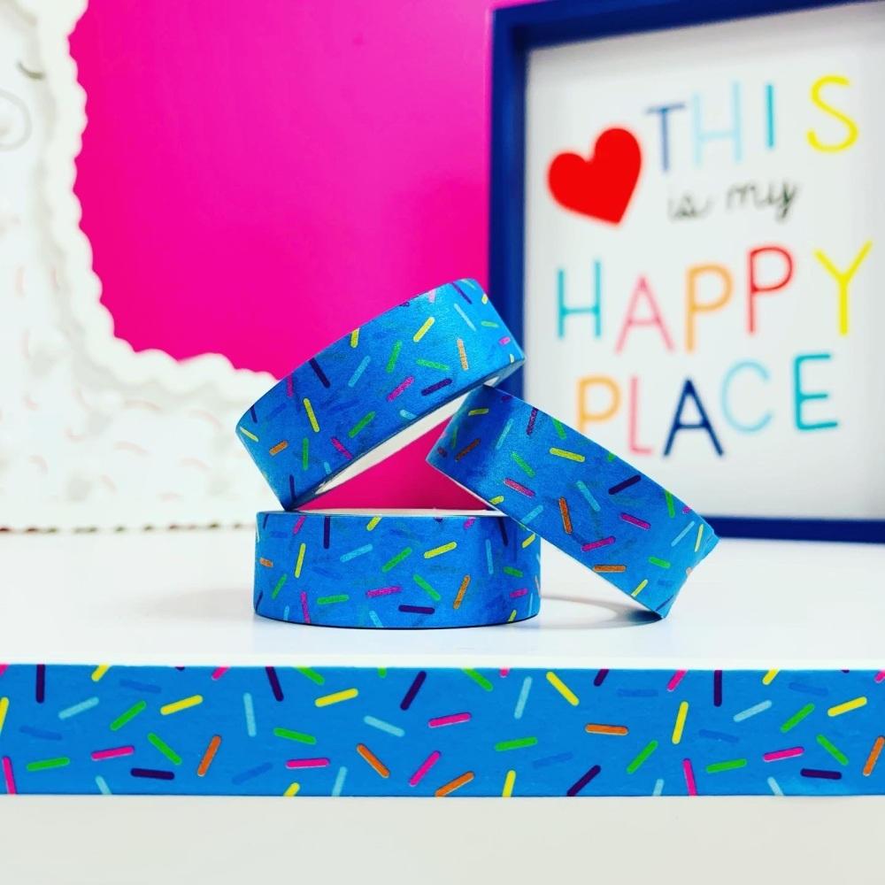 Blue Sprinkles  Washi Tape