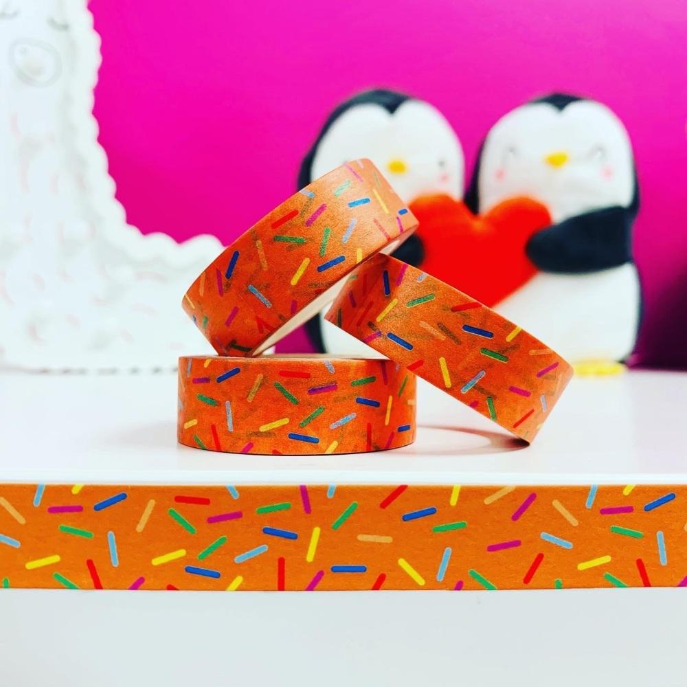 Orange Sprinkles  Washi Tape