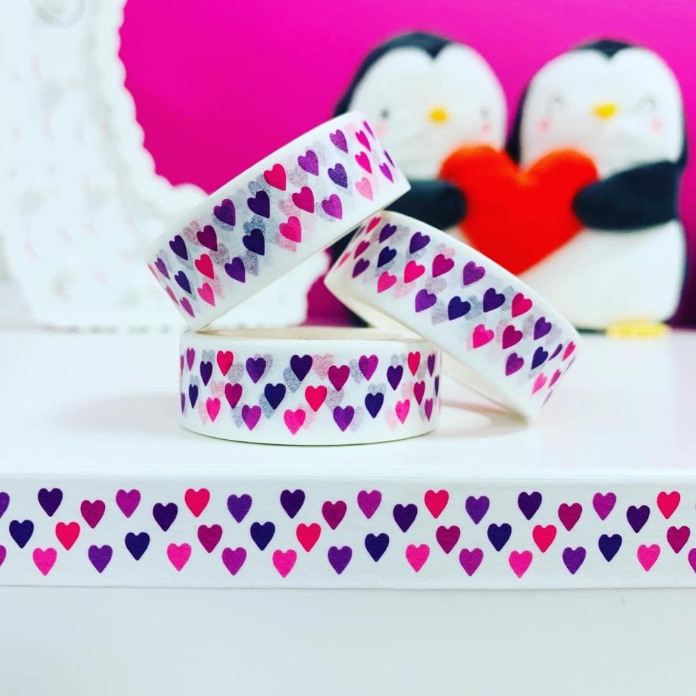 Pink & Purple Hearts  Washi Tape