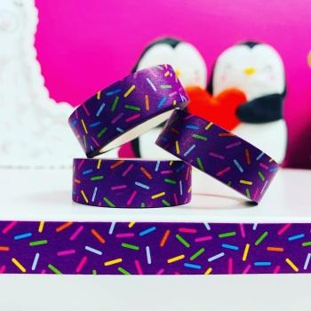 Purple Sprinkles  Washi Tape