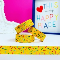 Yellow Sprinkles  Washi Tape