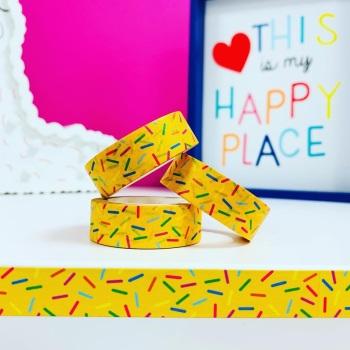 Yellow Sprinkles  Washi Tape