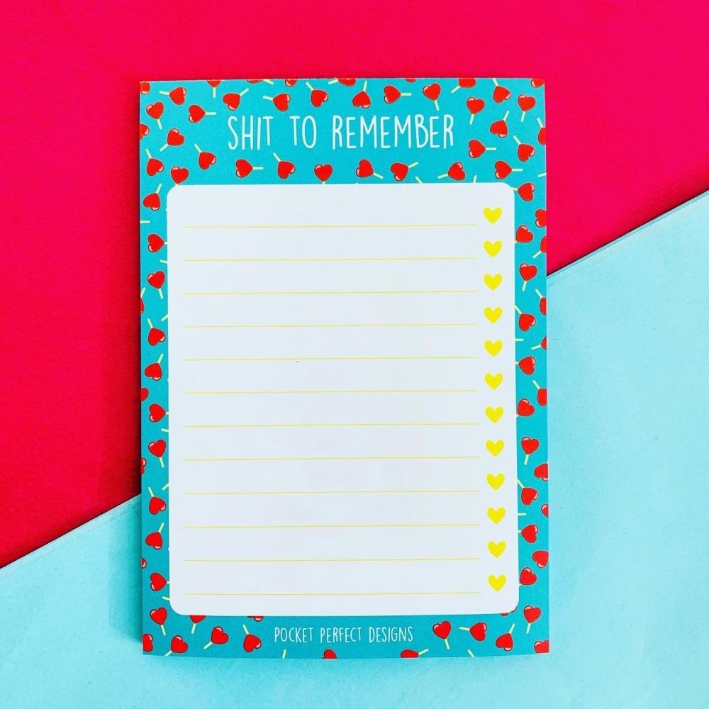 A6 Lollipop Hearts Notepad