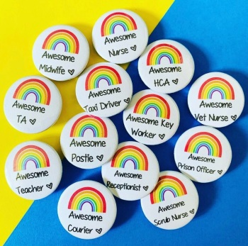 Awesome Teacher 25mm Badge