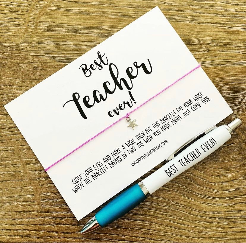 Best Teacher Ever Wish Bracelet & Pen