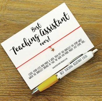 Best Teaching Assistant Ever Wish Bracelet & Pen