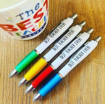 Best Teacher Ever Pen Pack Of 4