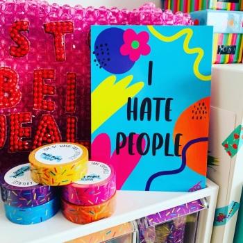 I Hate People Postcard/Print