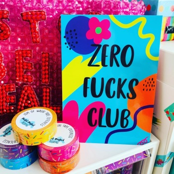 Zero Fucks Postcard/Print