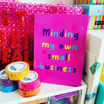 Minding My Own Small Postcard