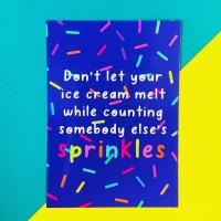 Counting Sprinkles Postcard/Print