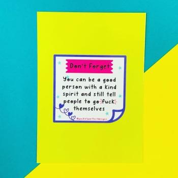 Kind Spirit Postcard/Print