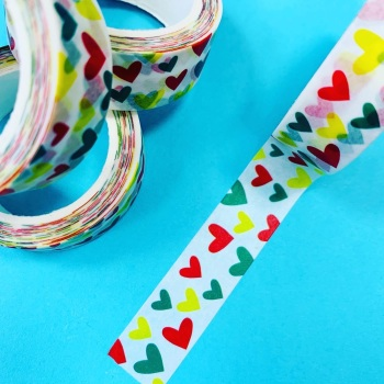 Mini  Hearts Washi Tape