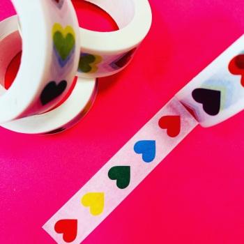 Vertical Hearts Washi Tape